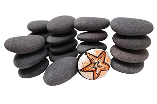 20 Painting Rocks by BasaltCanvas - Size 1 - Kindness Rocks for Painting - Very Smooth Surface - Easy to Paint - 20 Stones Ranging from 2.0 to 3.0 inches