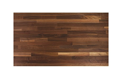 John Boos WALKCT-BL1225-V Blended Walnut Counter Top with Varnique Finish, 1.5