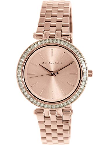 b50a8406030d Michael Kors Women s Darci MK3366 Rose Gold Stainless-Steel Plated Japanese  Quartz Fashion Watch