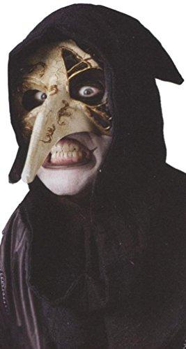 Venetian raven mask bone (Venetian Raven Mask Costume)