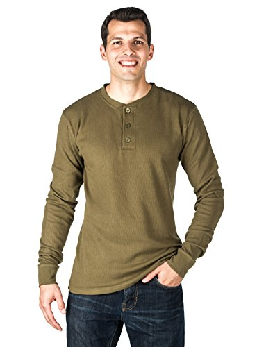 Dexter Costume - Noble Mount Mens Solid Thermal Henley