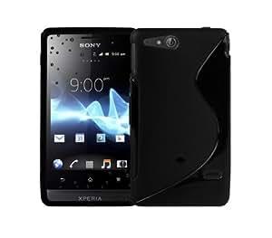 FUNNYGSM Semi rígida de carcasa de Gel para Sony Xperia Go ST27i negro