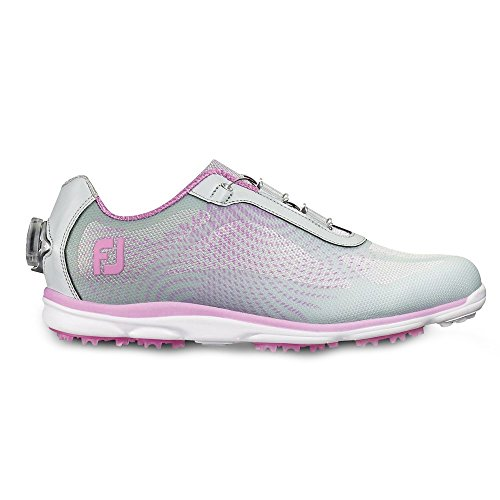 FootJoy Women's Empower Boa Golf Shoes (6.5, Silver/Purple-M) by FootJoy