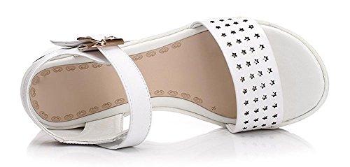 Frau Sommer Art und Weise mit Sandalen hohle weibliche Studenten Schuhe mit Sandalen Hang geschnitzt White