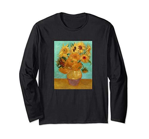 Van Gogh Twelve Sunflowers In A Vase Long Sleeve T-Shirt (12 Sunflowers In A Vase Van Gogh)