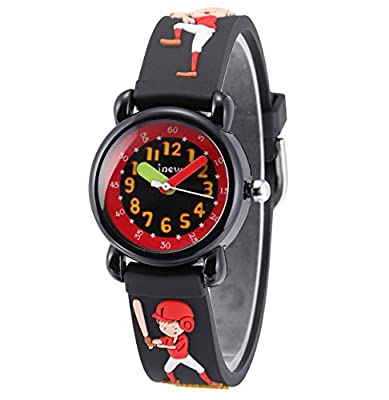 Children Kids Toddler Watches Time Teacher Watches, Cartoon Character 3D Silicone Band Watches by Jewtme