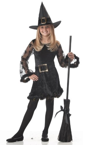 Adorable Witch Child Costume Size Medium - Baby Broom Costume