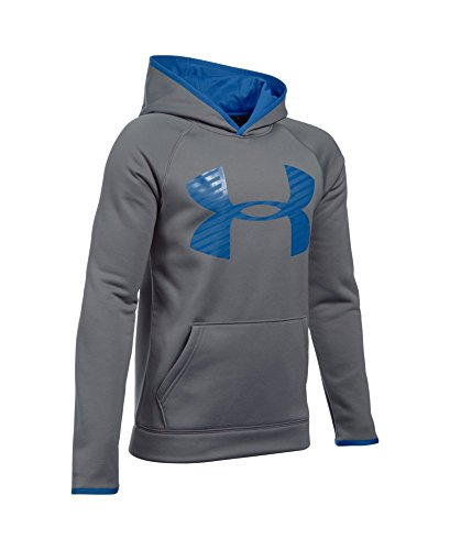 Under Armour Boys' Storm Armour Fleece Highlight Big Logo Hoodie, Graphite (040), Youth X-Large
