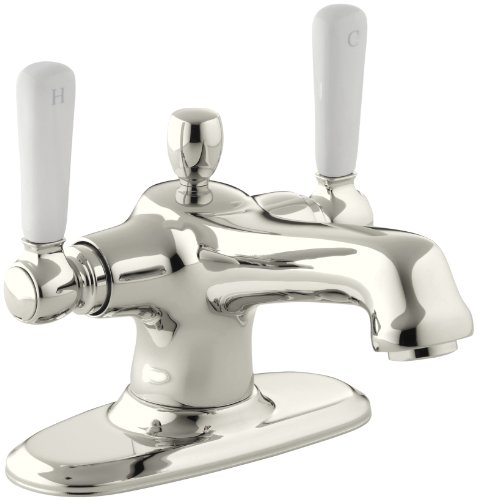 KOHLER K-10579-4P-SN Bancroft Monoblock Lavatory Faucet, Vibrant Polished Nickel (Polished Single Handle Bancroft Nickel)