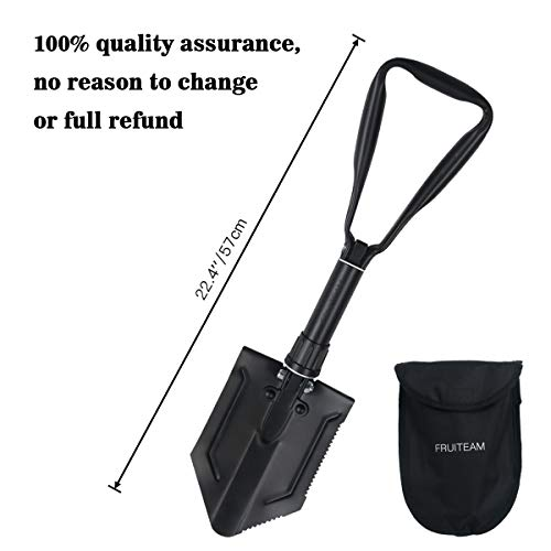 FRUITEAM Folding Shovel with Triangle Handle Military Folding Handle Shovel by FRUITEAM