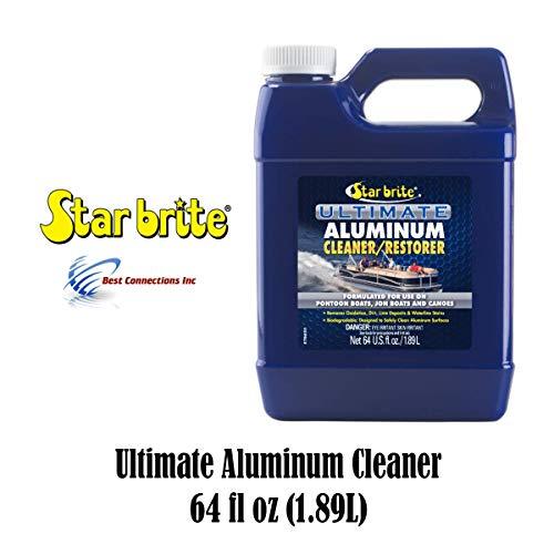 Starbrite Aluminum Cleaner Restorer 64 fl oz 87764 Pontoon Boat Canoe Cleaning (Cleaner Brite Aluminum)