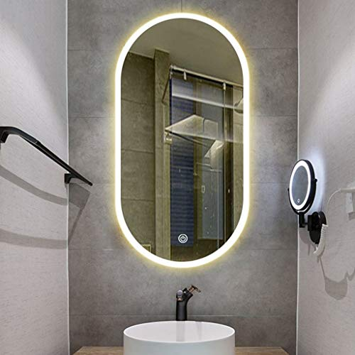 Bathroom Mirror with Lights, 600 X 1000 mm Modern Illuminated Bathroom Mirror -
