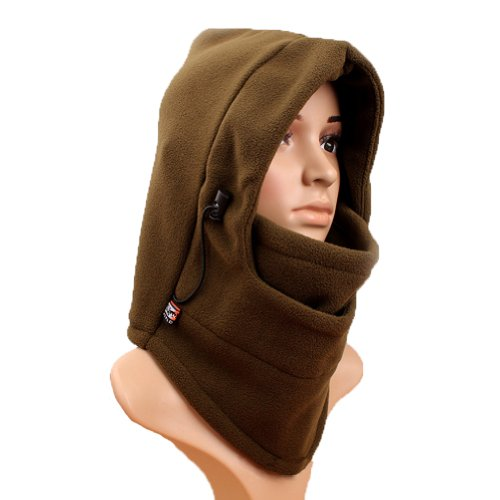 """MERSUIIâ""""¢ 6 in 1 Function Wind Resist Thick Double Layer Double-decked Wool Handling Outdoor Hat Hooded Terror Mask Hat CS Hat Terror Mask Fall and Winter Windproof Warm Riding Bicycle Motorcycle Cap Headcover Ski Hood Balaclava Scarf Motor Helmet Parts"""