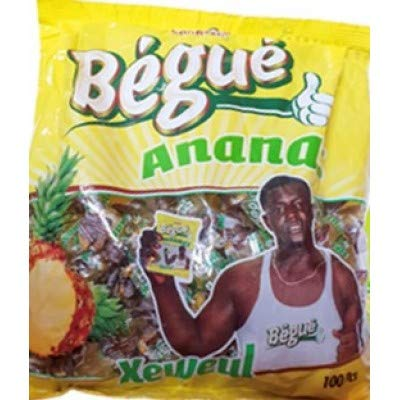 Bégué – Ananas – Harde Snoepjes met Ananassmaak – 100 Stuks