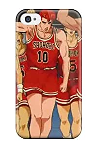 Iphone 4/4s Hard Back With Bumper Silicone Gel Tpu Case Cover Slam Dunk