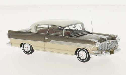 Hudson Hornet 2-Door Hollywood Hardtop, metallic-brown/beige, 1957, Model Car, Ready-made, Neo 1:43 - Hudson Valley Metallics