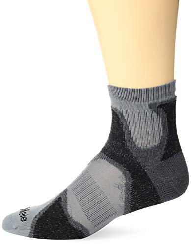 Bridgedale Men's Ultra Light T2 Trail Sport - Merino Cool Comfort Socks, Gunmetal/Black, Large ()