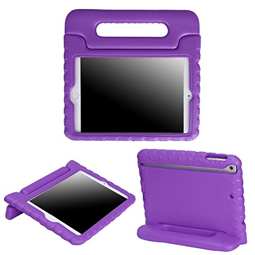 HDE Kids Case for iPad Mini 2 3 -Shock Proof Rugged Heavy Duty Impact Resistant Protective Cover Handle Stand for Apple iPad Mini 1 2 3 Retina (Purple)