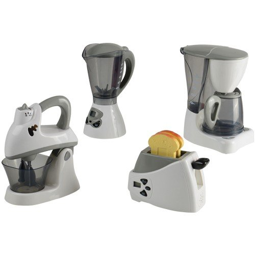 Constructive Playthings PGL-2 Pretend Play Action-Fun Appliances Set for Toy Kitchen, Grade: Kindergarten to 3, 4 Piece