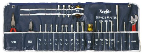 Xcelite 99SM 23-piece Series 99 Service Roll Kit with Canvas ()