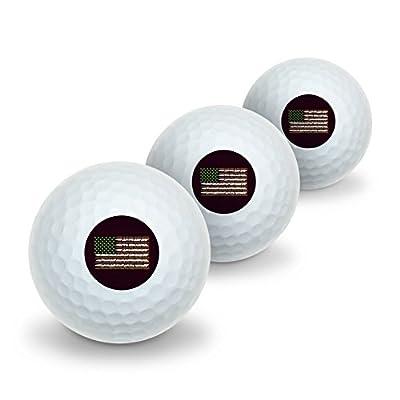 Marijuana Weed USA Flag American Joint Novelty Golf Balls 3 Pack