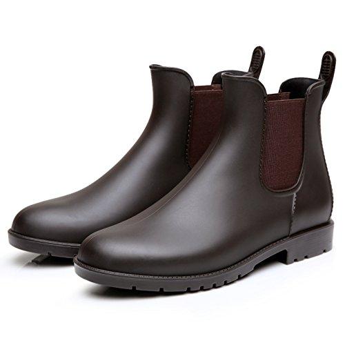 Chelsea Rain Boots Women Wellington Boots Ladies Ankle Wellies Brown