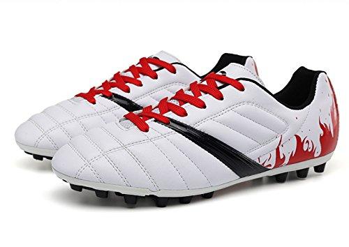 Xing Lin Fußballschuhe Big Spike Fußball Schuhe Junior High School Kick Schuhe Blau 12 Jahre Alt 13 Jahre Alt 37 Yards, 38 Yards, 39 Yards 43 Weiß