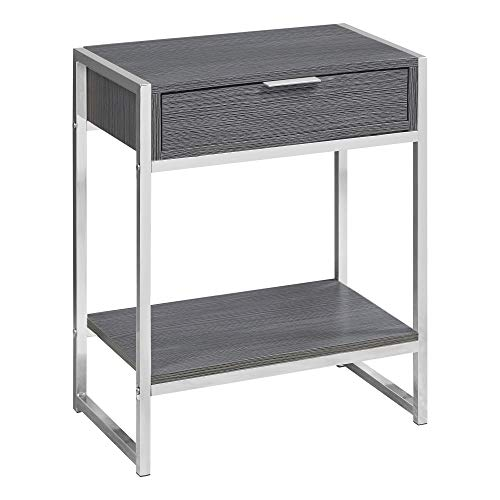 Accent End Table 24 H Grey