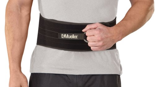 Mueller Adjustable Back and Abdominal Support, Black, One Size (Brace Mueller Back)