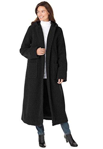 Women's Plus Size Coat, Long Length In Berber (Berber Coat)