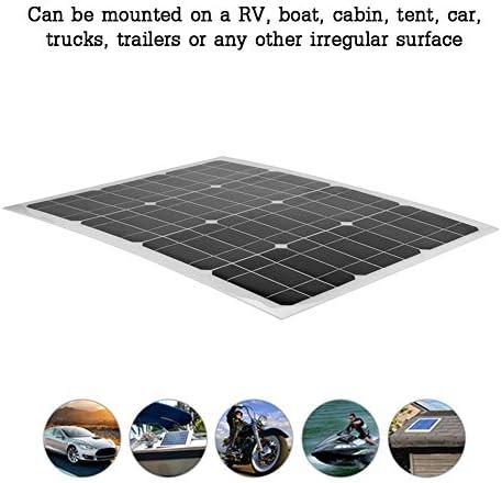 Multifunzionale Batteria di stoccaggio del Pannello Solare Caricabatterie Solare per casa//Barca//Yacht ASHATA Pannello Solare 40W Portatile Flessibile ad Alta efficienza 12V Pannello Solare Esterno