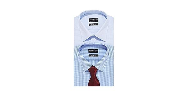 Juego de camisas y corbatas grandes y altas, diseño azul, 18 ...