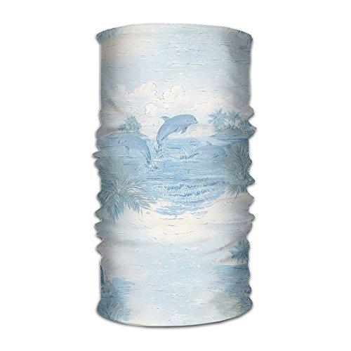 Owen Pullman Multifunctional Headwear Dolphin Cartoon Head Wrap Elastic Turban Sport Headband Outdoor Sweatband ()