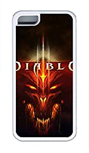5C Case, iPhone 5C Case Galaxy Pattern Diablo 3 Creativity iPhone 5C Shoockproof White Soft Case Full Body Hybrid Impact Armor Defender Cover protective Case for iPhone 5C