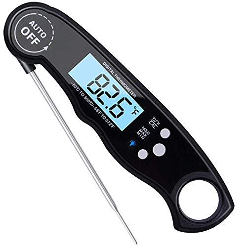 Price comparison product image Digital Instant Read Meat Thermometer,  Waterproof,  Ultra Fast,  with Backlight & Calibration,  For Grill And Cooking,  Food,  Candy,  Milk,  Tea,  BBQ,  Grill,  Smokers