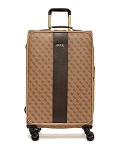 """Guess Nissana 24"""" Spinner 8-Wheeler Brown with Gold Hardware"""