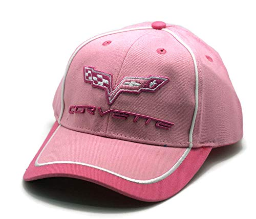 (Hat - Chevrolet Corvette Pink Embroidered Ball Cap)