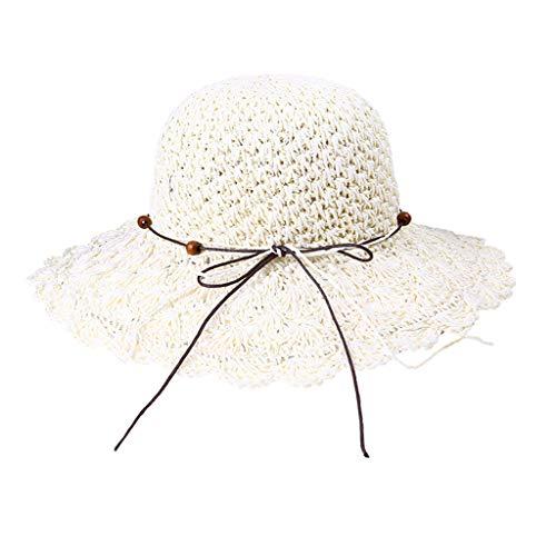 Women's Hat, Vinjeely Foldable Crochet Sun Hollow Dome Straw Wide Brim Summer Beach Hat
