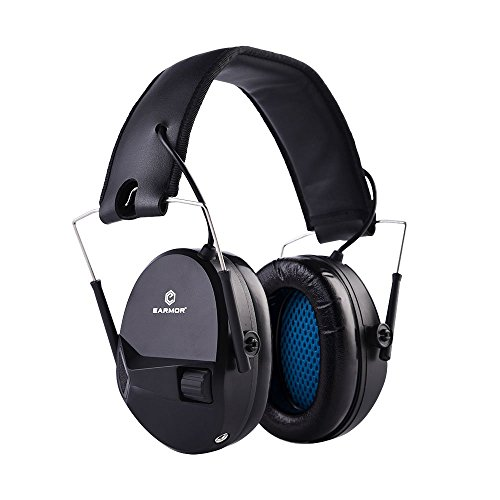 EARMOR Electronic Shooting Earmuffs - Ear Hearing Protection - Noise Reduction Headphone NRR 22 - Protector Hunting Factory Vehicles