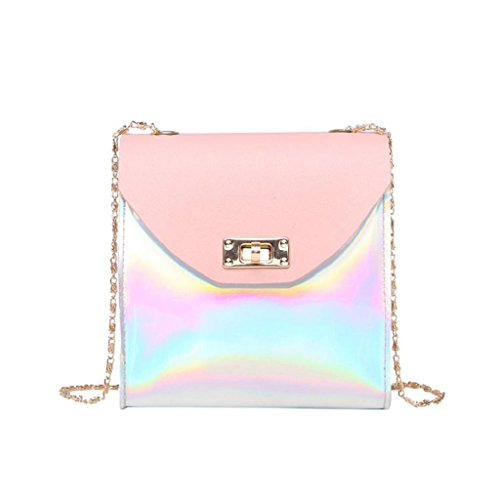 Phone Coin SHOBDW Bag Small Women Chain Messenger Crossbody Shoulder Fashion Womens Pink Wallet Party Bags Birthday Laser Gifts 1qxFCWHSw