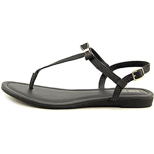 Bar III Womens Bess Split Toe Casual T-Strap Sandals Black 2L5Mw