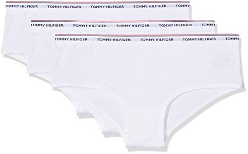 Tommy Hilfiger 3p Shorty, Braguita para Mujer Blanco (White / White / White 902)