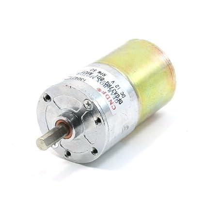 DealMux 80 rpm Velocidade 6 milímetros diâmetro do eixo 2 Terminais motor engrenado DC 12V