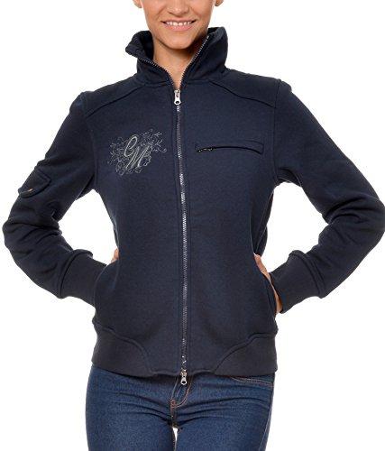 M.Conte Damen Sweat-Shirt Sweater Sweat Karen Dark Blue Größe M