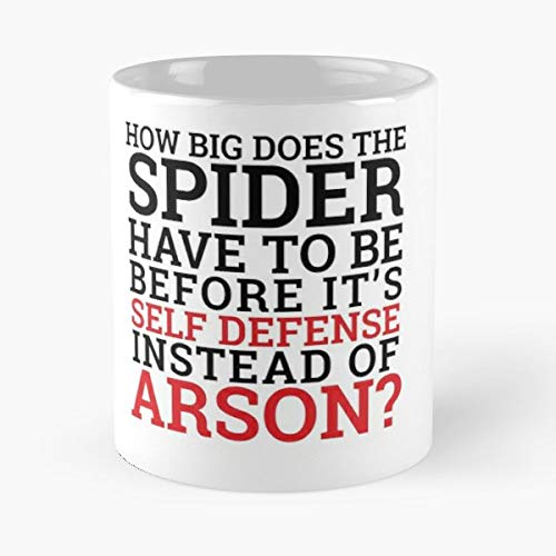 Spiders Funny Humor Text - Coffee Mug Best Gift 11 Oz Father - Spider Insulated
