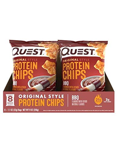Quest Chips BBQ Protein Chips Low Carb/Gluten Free 1.1 oz Pack of 16