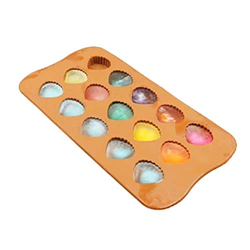 Amazon.com: VT BigHome Silicone 15 Cavity Cameo Shell Mold For Chocolate Sugar Ice Cube Tray Molds Jelly Pudding Craft Soaps Baking Tools: Kitchen & Dining
