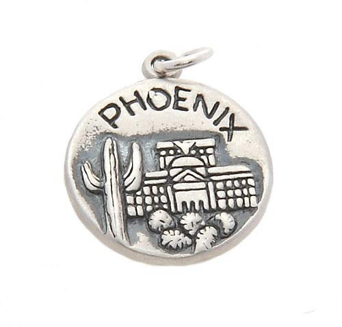 Sterling Silver Phoenix Valley of The Sun Charm/Pendant