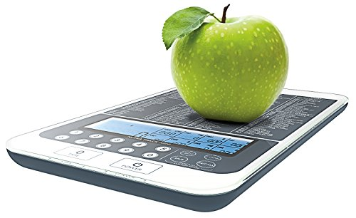 NutraTrack Mini Digital Food Scale, the most advanced food scale on Amazon. It includes calorie calculator and macros calculator. #1 best food scale.