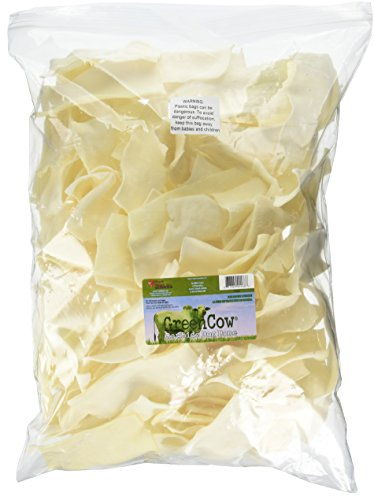 Green Cow Rawhide Dog Bones, Natural Chips, 5-Pound Bag